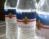 Eagle Scout COH Water Bottle Label. Coordinating with Red, White, and Blue Invitation