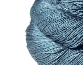Hazy winter sky - Silk Fingering Yarn