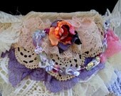 Sash, belt, shabby chic, marie antoinette, flower sash, lace, layers and frills, gypsy faery,victorian romance, lolita,pastel,wedding bridal