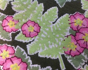 Woodlands Fern and Flowers Needlepoint - Finished Needlepoint Canvas