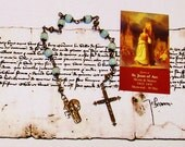 St. Joan of Arc Antique Replica Bronze Chaplet - Unbreakable Heirloom Chaplet - Patron of WACS, WAVES, Soldiers, Rape Victims and France