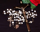 Heirloom Unbreakable Bronze Miraculous Medal Catholic Rosary from the Special Edition Handcrafted Art Chaplets & Prayer Beads Series