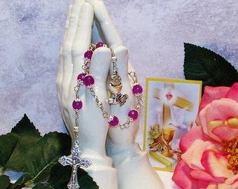 Unbreakable Nine-bead Catholic Novena Chaplet of the Holy Communion - First Communion Gift