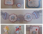 Elephant 1st Birthday Petite Party Package baby shower