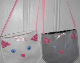Little Girls Cat Purse / Handbag / Tote / Shoulder Bag / Crossover Pocketbook