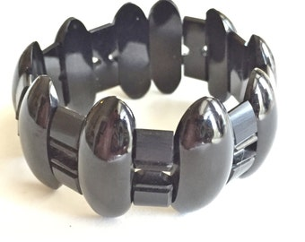 Victorian Whitby Jet Bracelet Original Antique