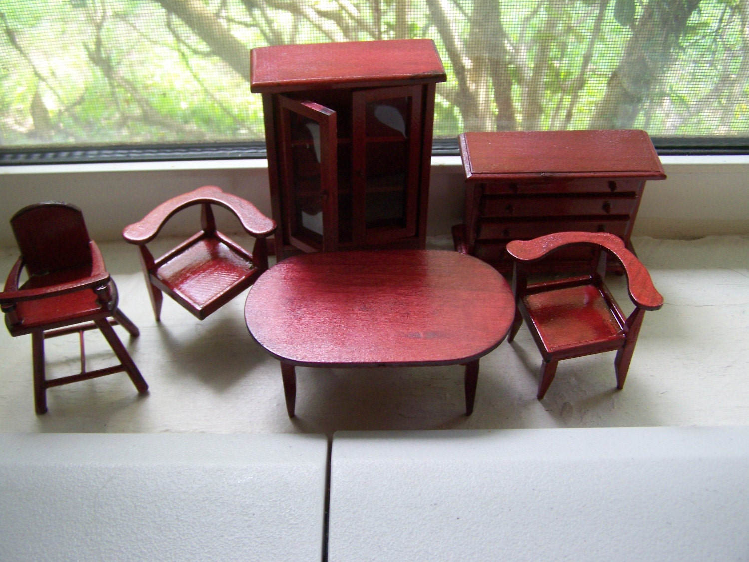 Dining Room Furniture Table Chairs High Chair Buffet China Cabinet