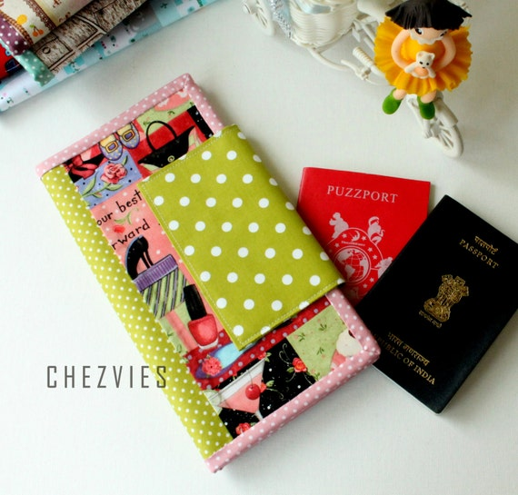 Quilting Family Passport  wallet, large passport holder, passport case, family travel wallet, family passport cover, 6 passport organizer