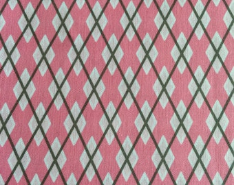 """Dog Collar """"Argyle in Pink"""" CLEARANCE"""