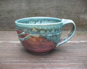 Mug/ Tea Cup, 12 ounces, hand thrown stoneware by Jennie Blair