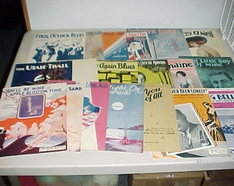 Vintage Sheet Music Lot of 20 Songs