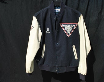 Vintage football varsity jacket TV prop from 1st & Ten HBO TV series with O J Simpson size Large by thekaliman