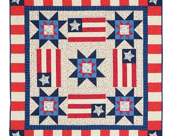 Bursting With Pride Table or Wall Quilt Kit Hometown Summer Red White Blue Patriotic