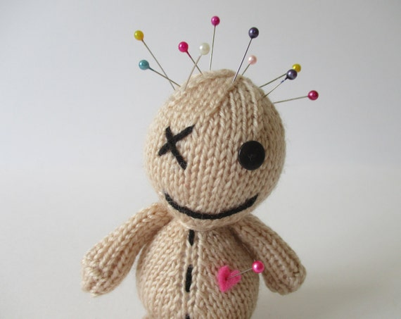 Knitting Pattern Voodoo Doll : Voodoo Doll toy knitting pattern from fluffandfuzz on Etsy Studio
