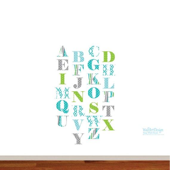 ABC Wall Decal - Animal Alphabet Decal - Nursery Wall Decal