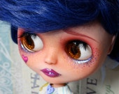 Reserved for Hollie-Violet-Blythe Doll Repaint and Hand Made outfit by Wicked Paper Dolls OOAK
