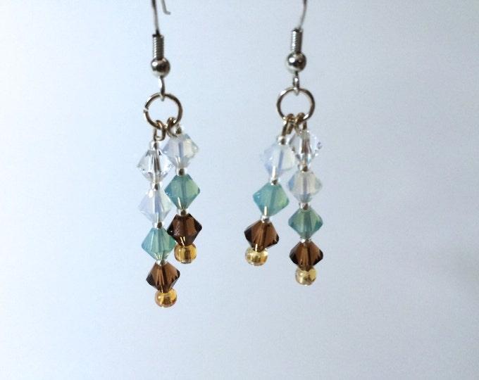 Crystal Earrings, Under The Sea, Swarovski Crystal Dangle Earrings, pendientes, boucle's d'oreilles, orecchini, cristal