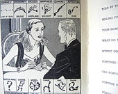 Fun with Fortune-Telling vintage booklet fun Cynthia Hunt published 1940 tea leaves crystal ball horoscope mystic circle