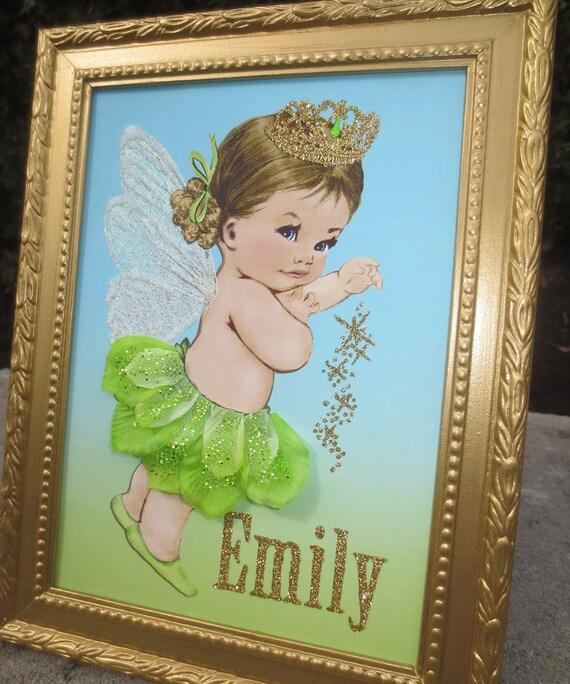 Fairy wall art fairy wall decor fairy princess nursery by for Fairy princess wall mural