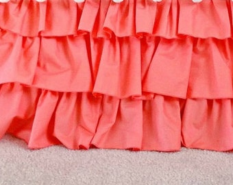 Coral 3-Tier Ruffle Skirt