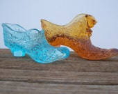 Set of two Depression glass booties
