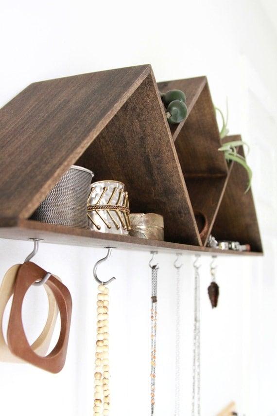 Mountain Jewelry Shelf Handmade Wall Decor Jewelry