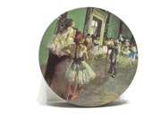 Vintage Degas Dancing Lessons, Round Metal Tin, Ballet Class Tin, Cottage Chic Metal Tin, Round Storage, Button Tin, Sewing Tin, Kitchen Tin