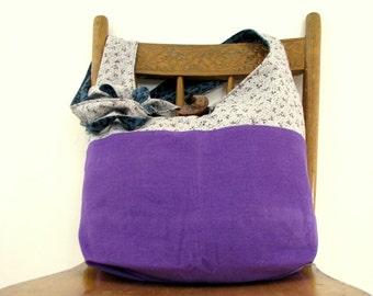 CROSS SHOULDER BAG - Hobo Bag - Purple Bag - Crossbody Bag - Hippie Bag - Boho Bag - Hippie Bag - Across Body Bag - Slouch Bag - Slouch Bag