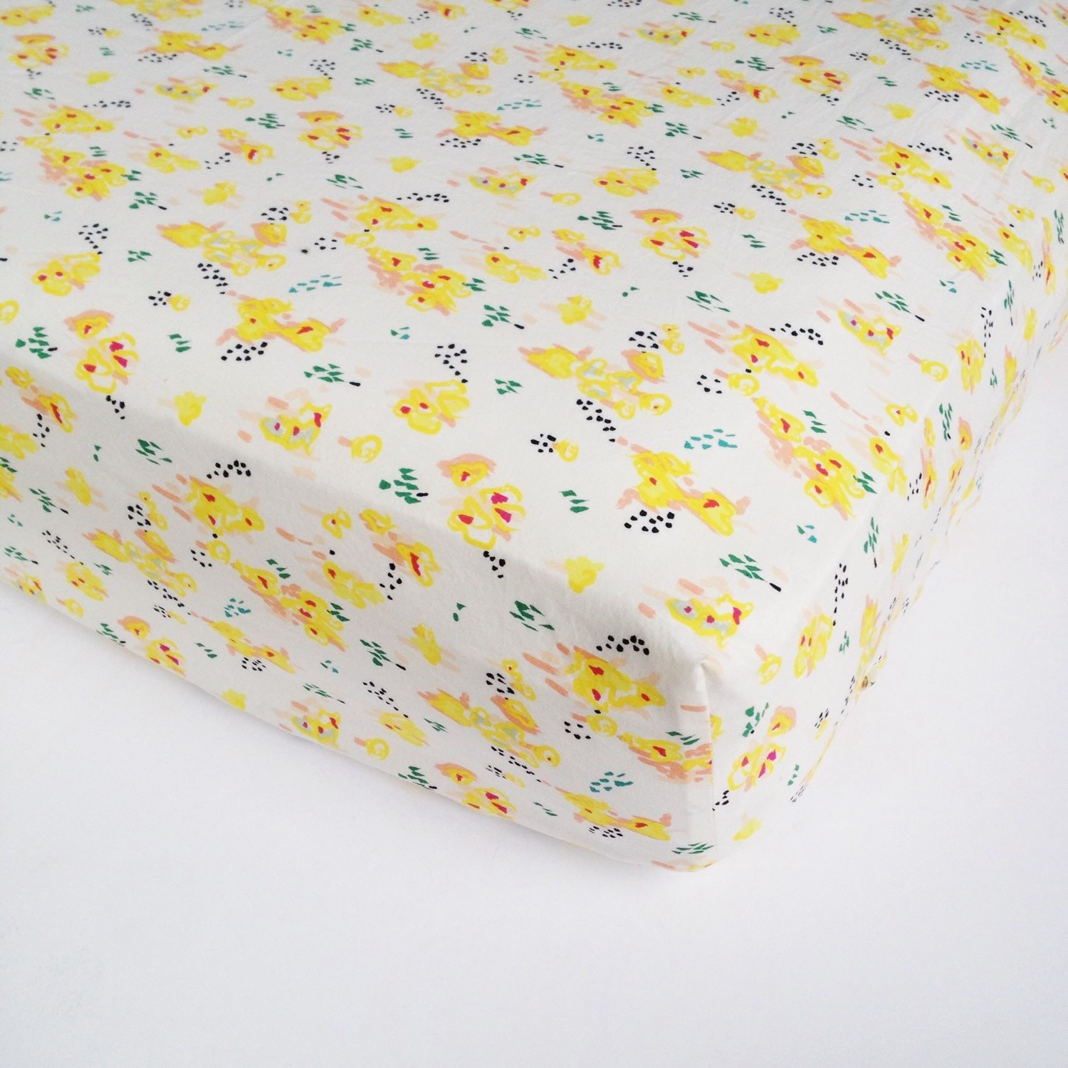 Floral Crib Sheet Watercolor Fitted Crib Sheet Girls