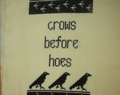 Game of Thrones Crows Before Hoes PDF cross stitch pattern Instant Download