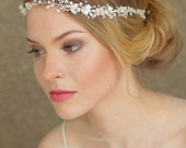 Bridal hair vine, Bridal headband, Pearl Headband, Wedding Headband, Pearl Halo, Bridal Hair Accessories, Bridal hair piece