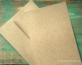 "100 Kraft A1 FLAT Cards & Envelopes: rustic invites, recycled, 3 1/2""x4 7/8"" (89x124mm)  kraft brown/light brown, 65lb, 80lb, 100lb or 105lb"
