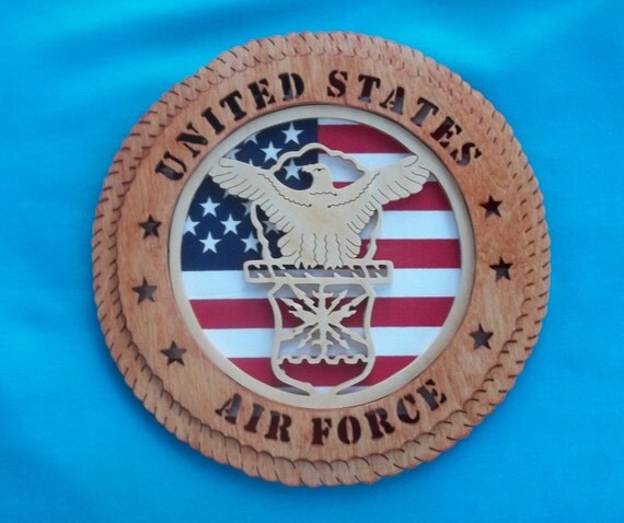United States Air Force Scroll Saw Plaque