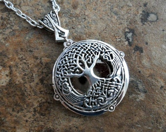 Celtic Tree of Life Locket, Celtic Locket Exclusive Design by Enchanted Lockets