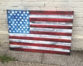 American Flag No. 27 Large Pop Art Painting on Canvas 24 x 36