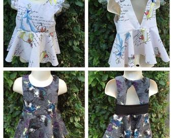 Girls Custom Princess or Villian Inspired Peplum Top