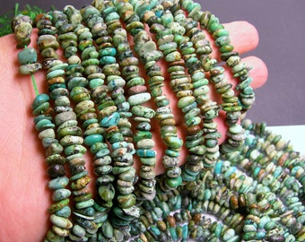 African turquoise - chip stone - bead -full strand - 8mm -  african turquoise gemstone - PSC124