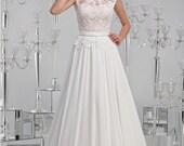 Beautiful Lace and chiffon wedding dress-Mariella