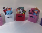 Dolls House Miniatures  Toy Box (assorted)
