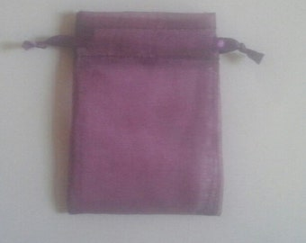 Plum Organza Bags 100 bags 4 x 6inch favor bags Sachets handmade soap, bath salt, beads, herbs, favor bag, wedding,