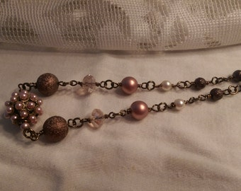 Bronze and Rose necklace