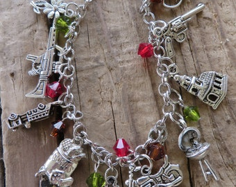 Walking Dead TV Show Inspired Charm and Crystal Bracelet III