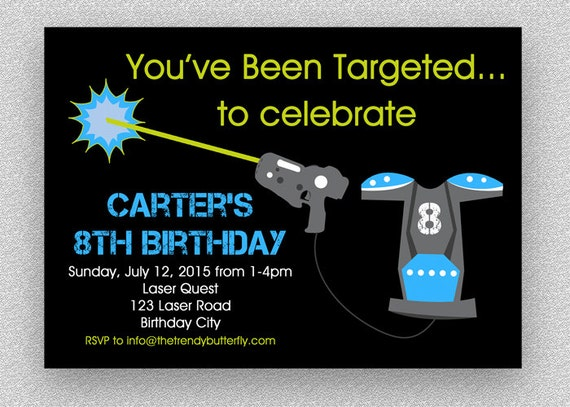 Laser tag invitation laser battle birthday party laser tag invite il570xn filmwisefo