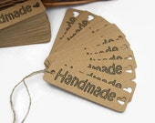 X50 'HANDMADE' craft labels sewing knitting tags