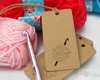 X30 Kraft Crochet Tags labels craft tags crafting gift tag