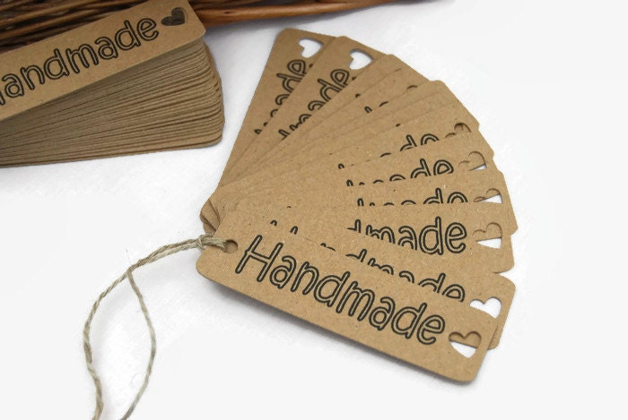 labels for handmade items x50 handmade craft labels sewing knitting tags 1522