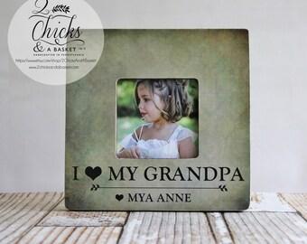 I Love My Grandpa Picture Frame, Grandpa Picture Frame, Personalized Grandpa Frame, Personalized Father's Day Gift