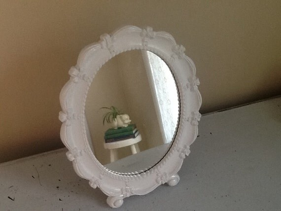 white vintage mirror pretty white desk mirror entry way