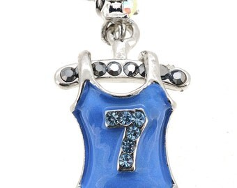 Blue Tank Top Swarovski Crystal Tack Pin 1012012