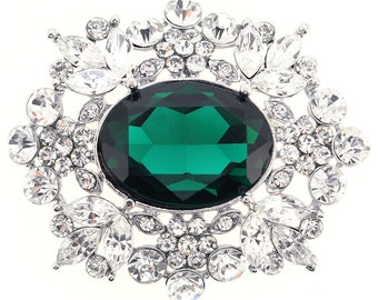 Emerald Flower Pin Wedding Pin Brooch And Pendant 1004811